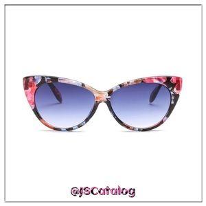 Cat Eyes Floral Multicolor Anti-UV Sunglasses